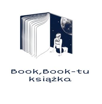 logotyp przedstawiający książkę i kobietę