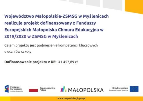 plakat Małopolskiej Chmury Edukacyjnej