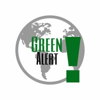 plakat przedstawiający kulę ziemska i napis green alert