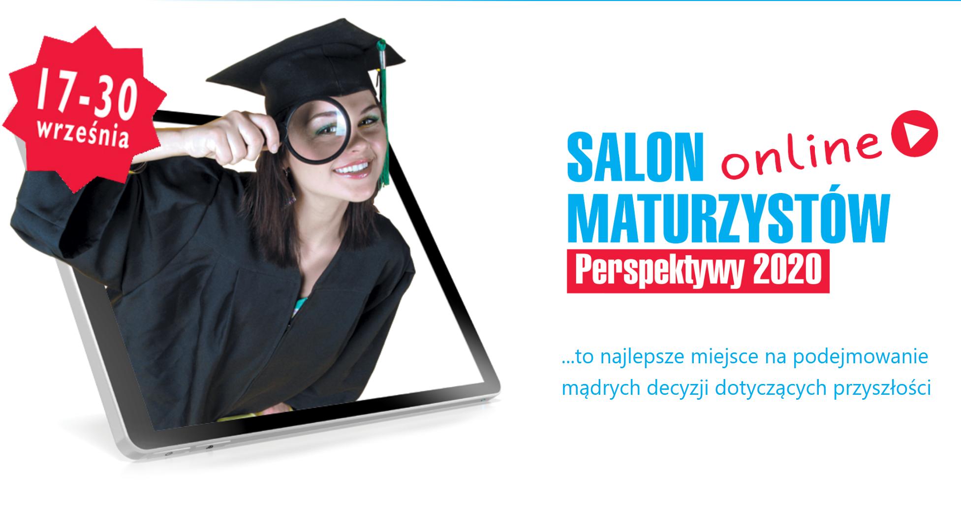 plakat informacyjny o akcji salon maturzysty fundacji Perspektywy